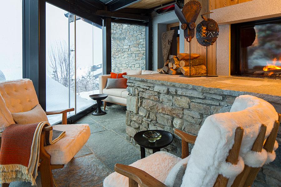 Zona relax del Four Seasons Hotel Megève – Credit Photo Richard Waite
