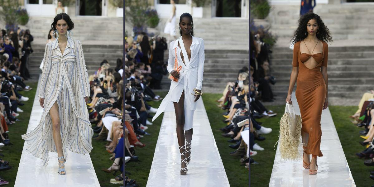 Tre proposte di abbigliamento femminile della collezione Jacquemus SS 2019