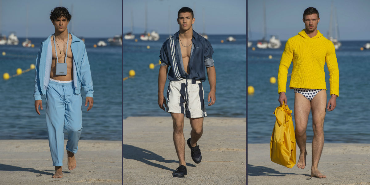 Tre proposte di abbigliamento maschile della Collezione Uomo Jacquemus Gadjo SS 2019