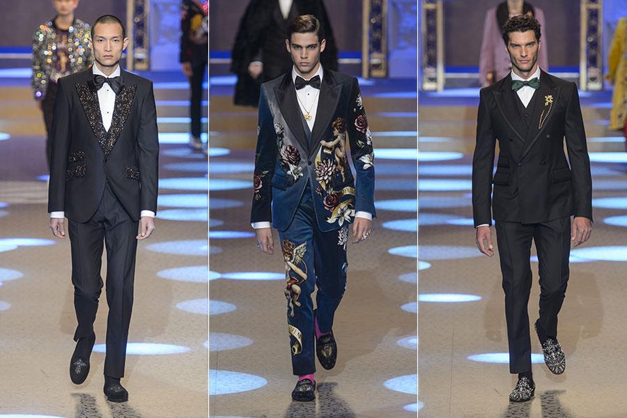 Made to Measure: nell'immagine modelli di abiti su misura da uomo di Dolce & Gabbana