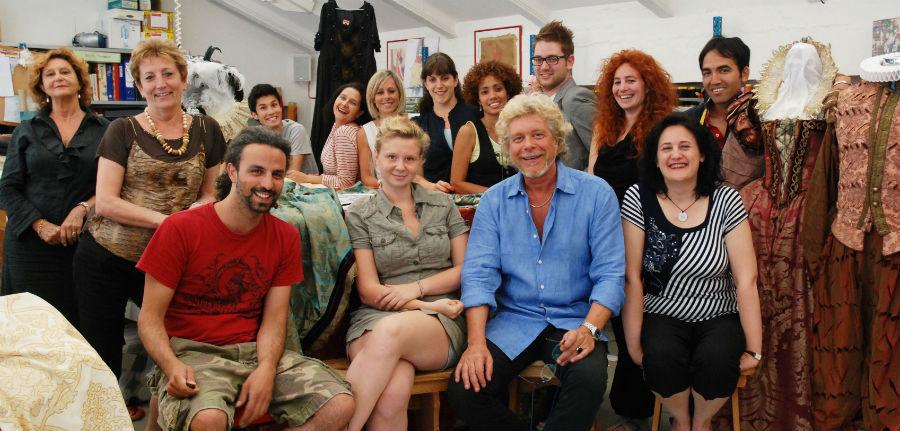 Il Maestro Stefano Nicolao con lo staff di Nicolao Atelier