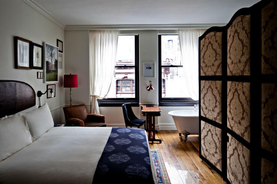 Una delle camere del NoMad Hotel di New York (Credit Benoit Linero)