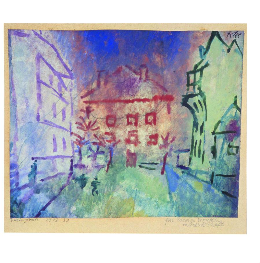 Paul Klee: il dipinto La casa rossa