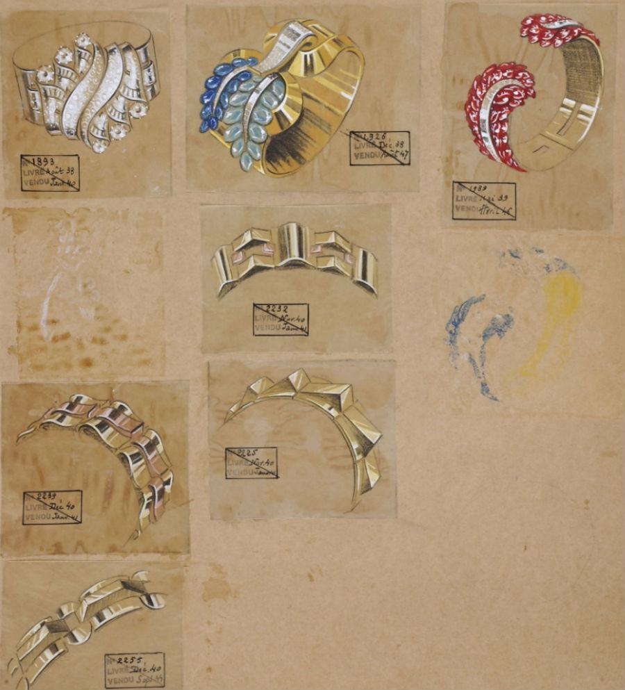 Boucheron Gioielli - Gli archivi di Boucheron con creazioni di fine anni '30.