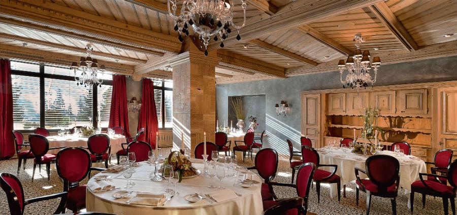 Gstaad Palace Hotel: la sala ristorante