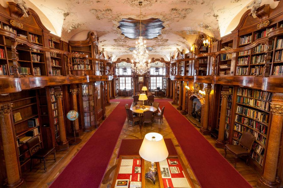La Biblioteca dell'Hotel - Credits Hotel Schloss Leopoldskron