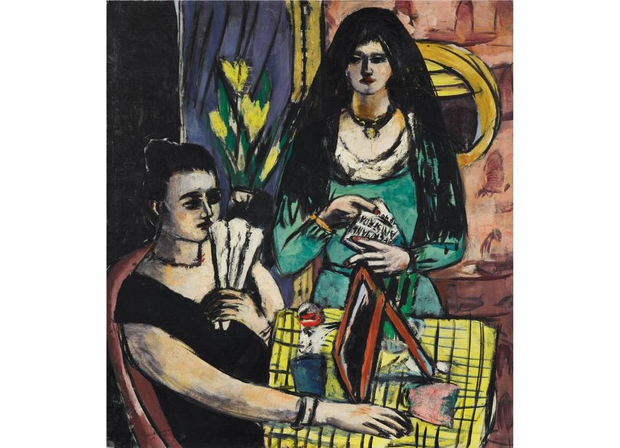 Max Beckmann - Ragazze in nero e verde (Due donne spagnole) 1939, olio su tela 127 x 116 cm, Collezione privata © 2018, ProLitteris, Zurich