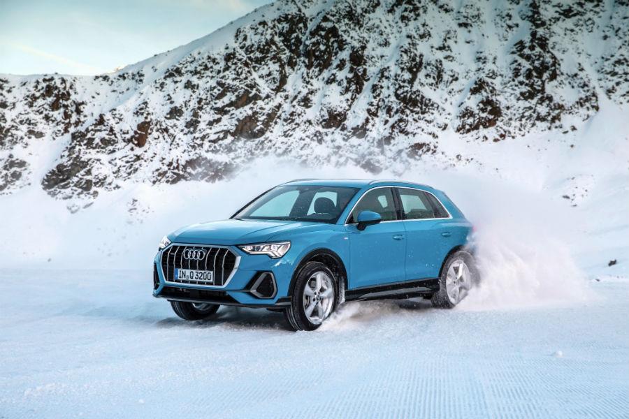 Un virtuosismo sulla neve della Nuova Audi Q3