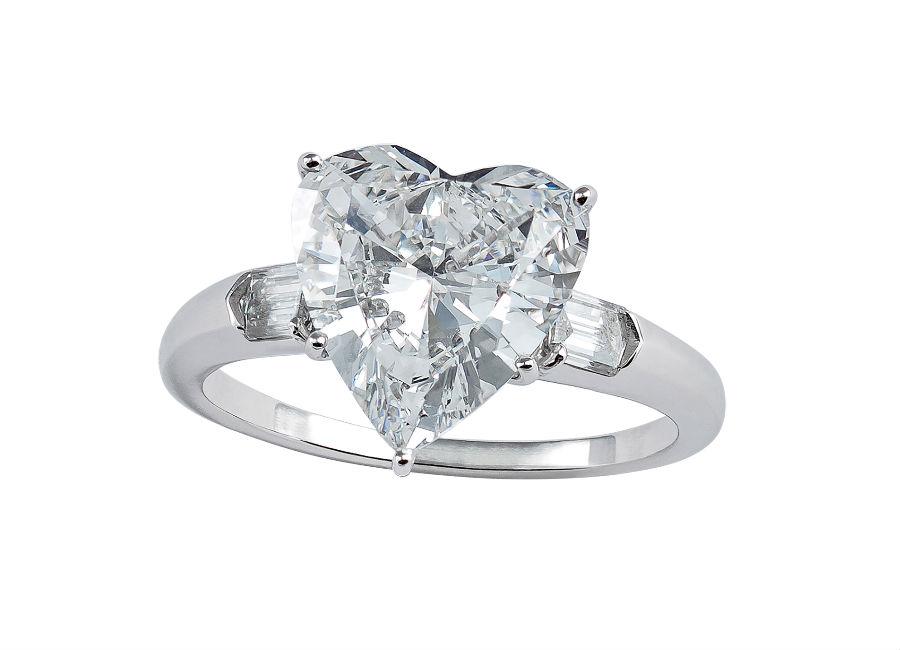 Pisa Diamanti – Anello con un diamante taglio a cuore