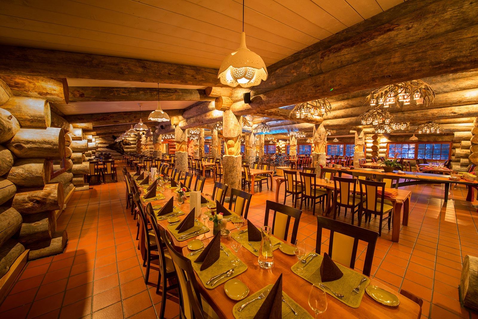 Aurora Boreale Finlandia Kakslauttanen Aurora Restaurant