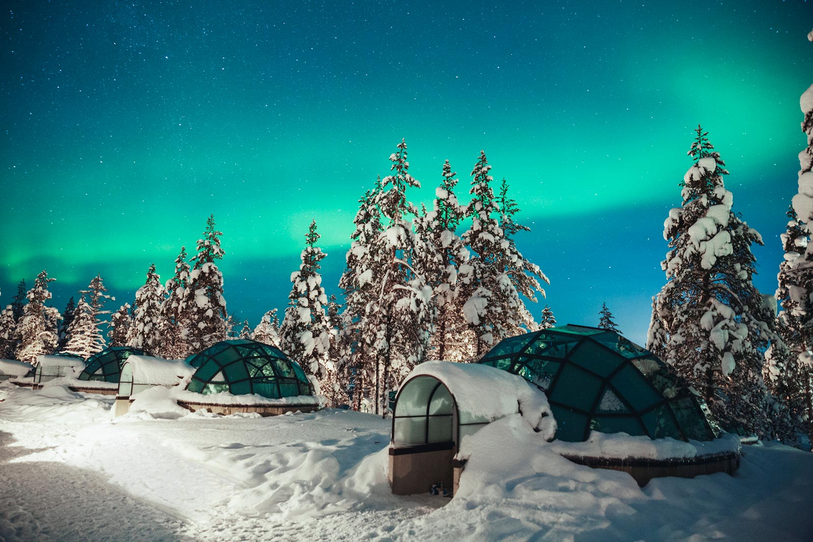 Aurora Boreale Finlandia Kakslauttanen Glass Igloo Northern Lights