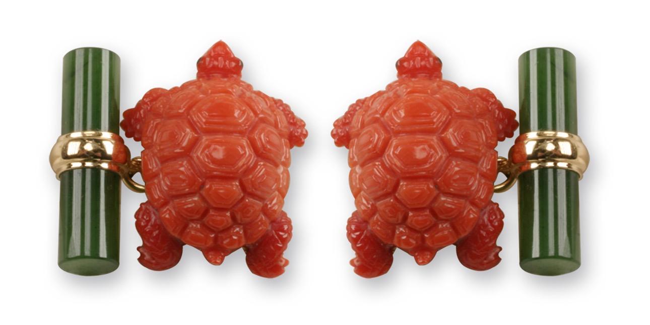 Gemelli tartaruga in corallo