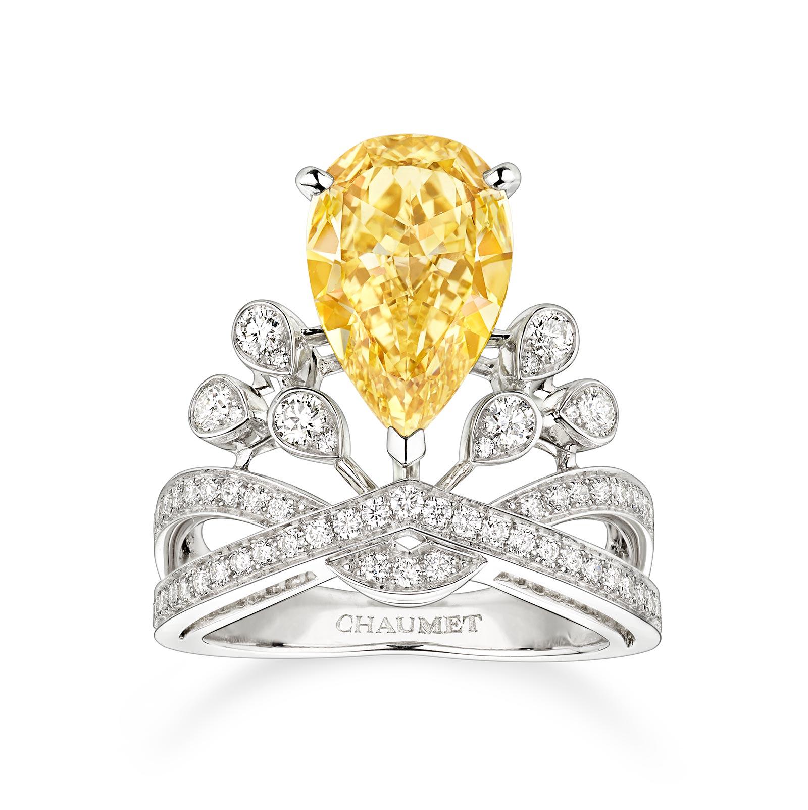 Chaumet Alta Gioielleria: Bague Josephine Diamant Jaune