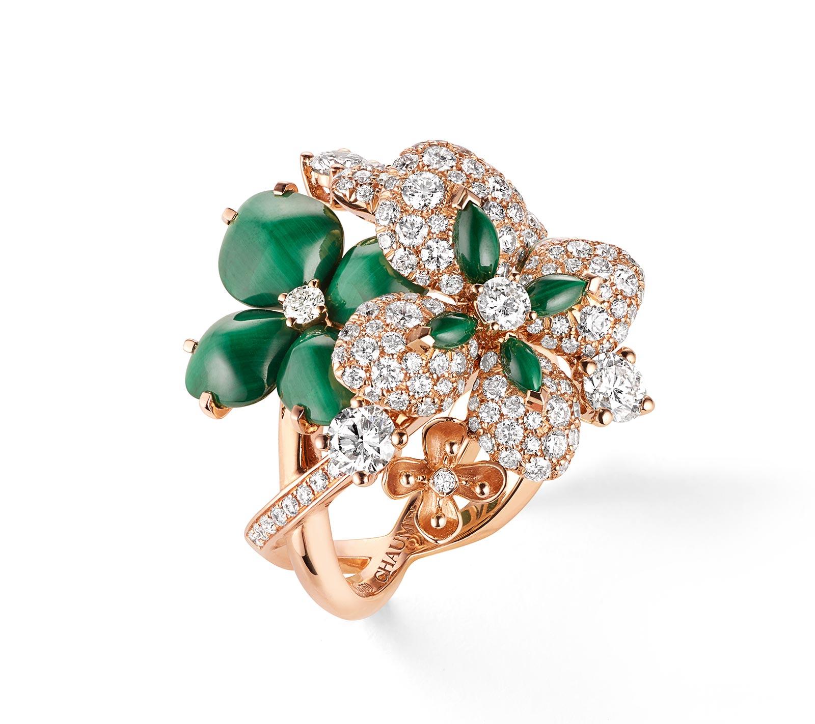 Chaumet Alta Gioielleria: Hortensia Eden Precious Jewellelry Malachite Ring