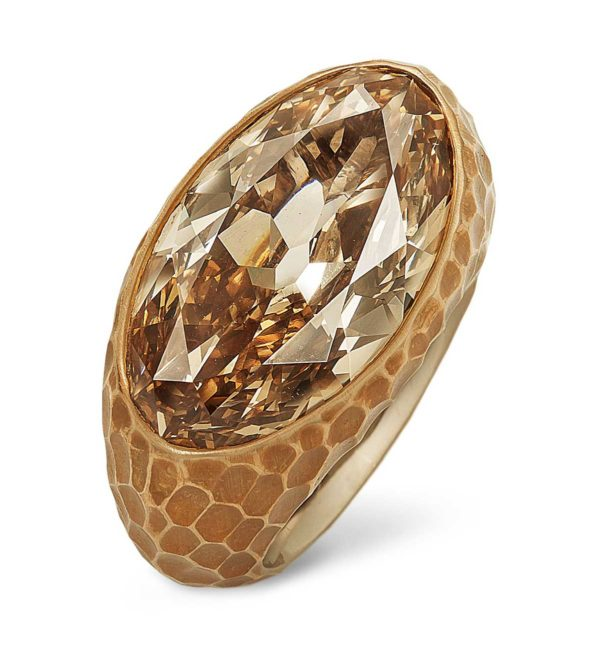 Tefaf Maastricht 2019: Hemmerle ring, diamond, bronze, white gold