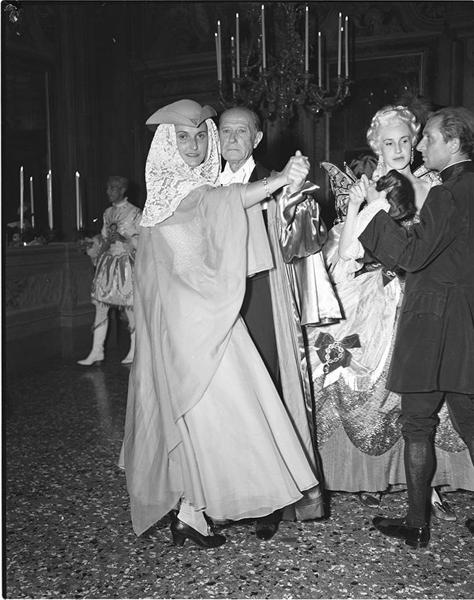 Contessa Ludovica Doria di Milano e Conte Paolo Labia di Roma Archivio Cameraphoto credits Vittorio Pavan