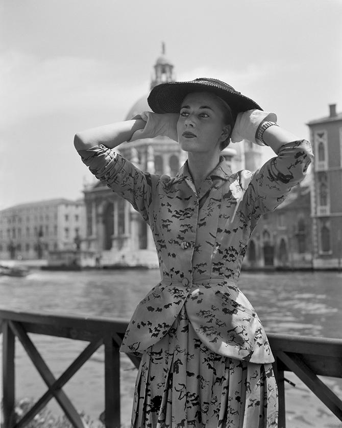Dior a Venezia nel 1951, Archivio Cameraphoto credits Vittorio Pavan