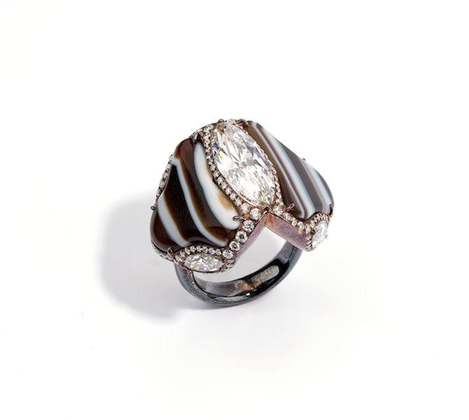 Y - Maison G - Glenn Spiro - Marq Diam and Agate Ring