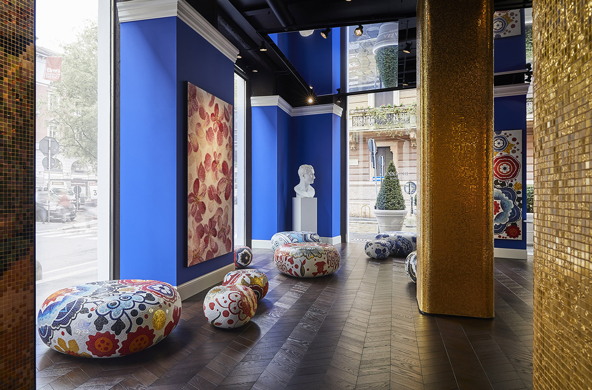 Mosaici BISAZZA New Milan Flagship Store
