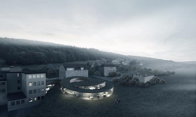 "Il nuovo museo Audemars Piguet, il ""Musée Atelier""progettato dall'architetto danese Bjarke Ingels."