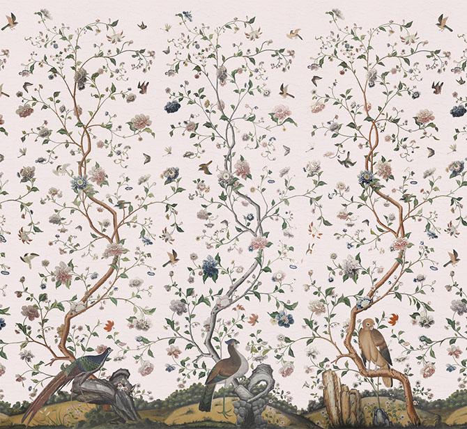 Iksel, l'arte nelle carte da parati Costermans Garden Pink