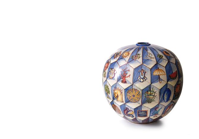 Vaso a tema geometrico Bottega Vignoli