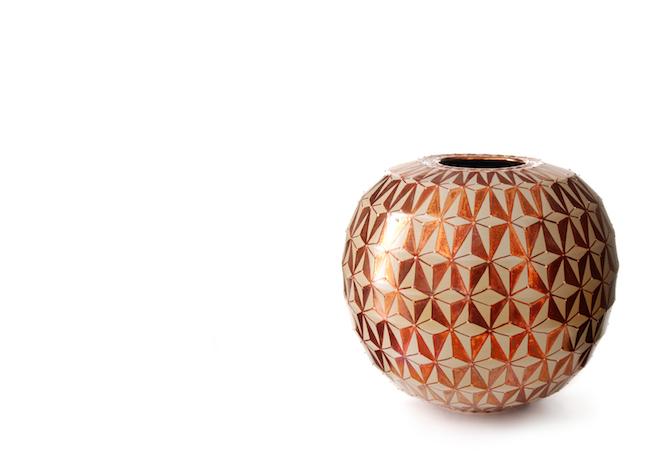 Vaso a tema geometrico Bottega Vignoli 3