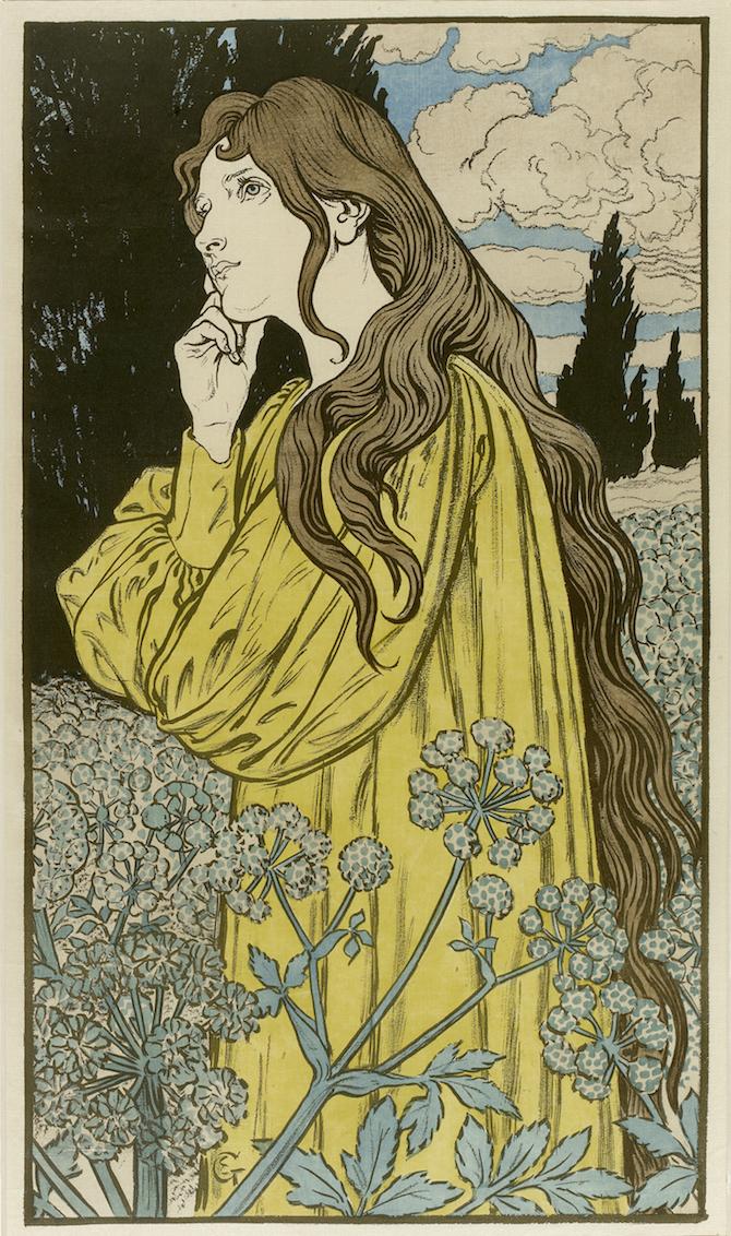 Eugène Grasset _Méditation
