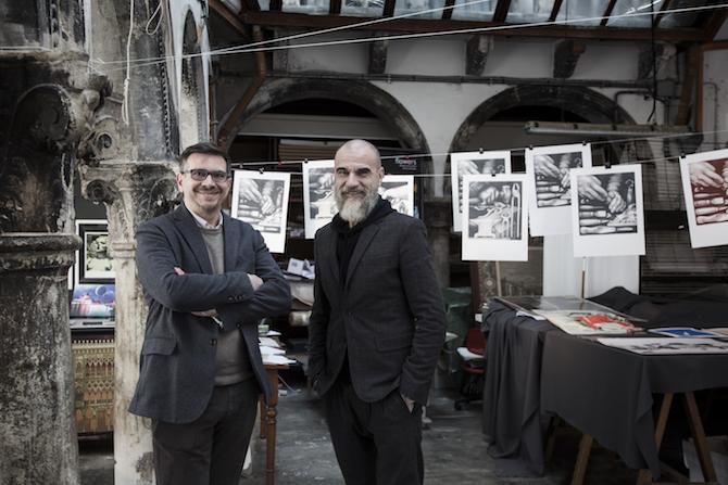 Ritratto del Maestro Gianpaolo Fallani e Giampiero Bodino