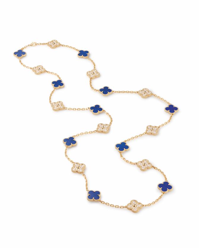 Sautoir Alhambra Lapis Lazuli