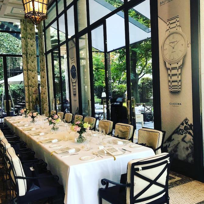 L'art de la table durante il pranzo organizzato da Baume & Mercier a Palazzo Parigi Hotel e Grand SPA di Milano