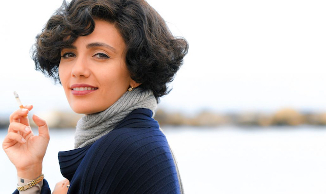 """Serena Rossi durante una scena del film """"Io sono Mia"""" andato in onda su Raiuno."""