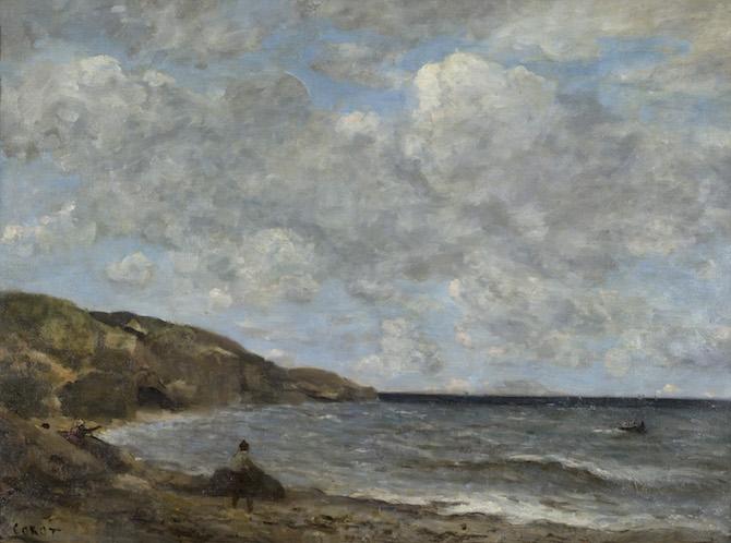 Jean-Baptiste Camille Corot Una spiaggia in Normandia