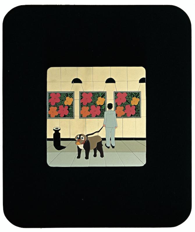 ANDY DANDY 1973 Acrilici e nitro su legno 182 x 153 cm