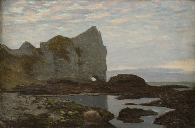 Claude Monet Étretat, 1864 ca.Olio su tela, 27x41 cmCollection Association Peindre en Normandie, Caen