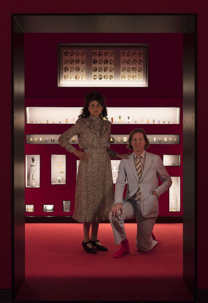 Wes Anderson and Juman Malouf, Ph. Andrea Rossetti, Courtesy Fondazione Prada