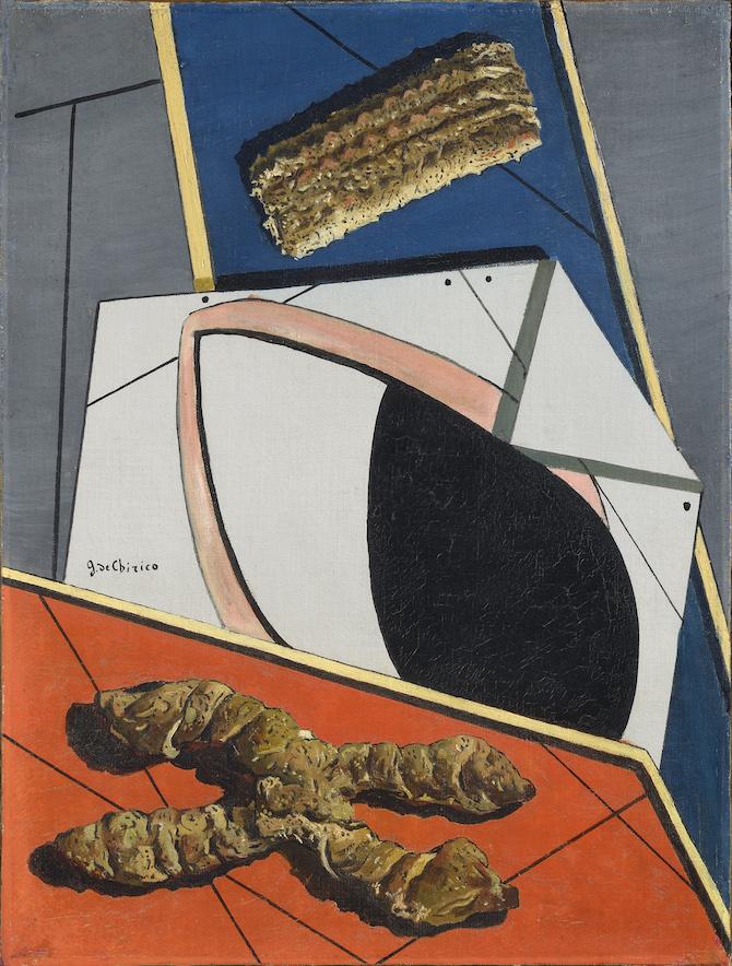 Giorgio de Chirico Il saluto dell'amico lontano(Le salut de l'ami lointain), 1916