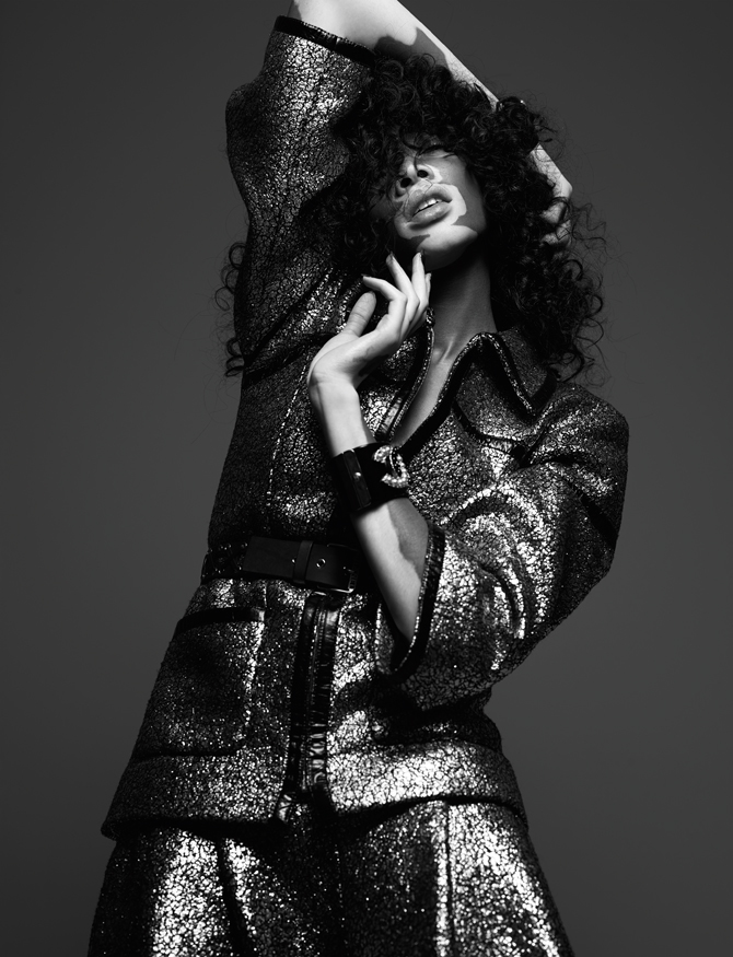Sparkly Chanel, 2016, Hunger, Issue 16, Model: Winnie Harlow - Photo Credit: Rankin Photography Ltd.