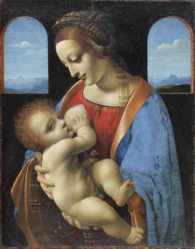 """Leonardo da Vinci, """"Madonna Litta"""","""