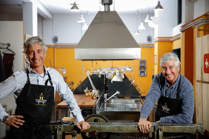 Luca e Guido Solari, titolari della Scuola Orafa Ambrosiana,