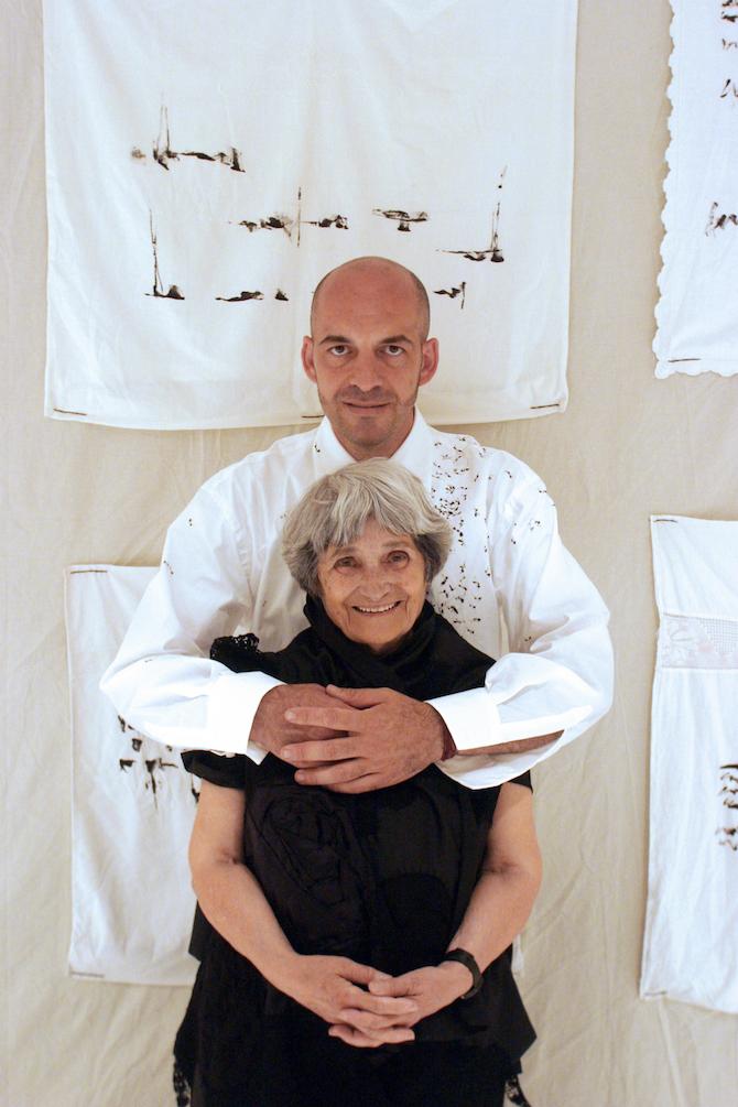 Maria Lai e Antonio Marras Alghero 2003©Daniela Zedda