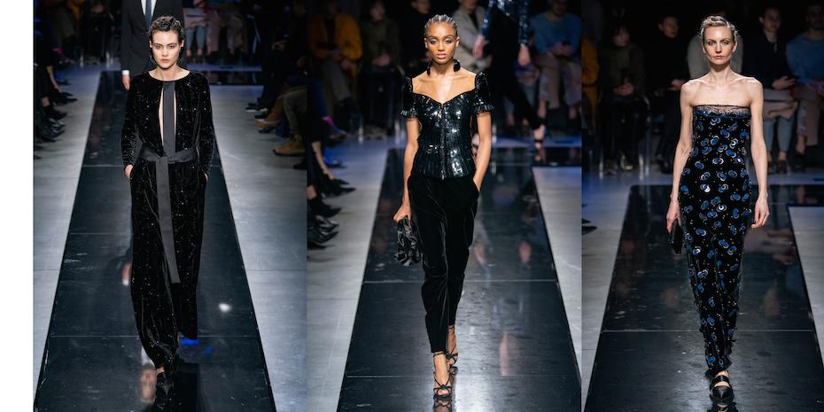 Giorgio Armani collezione AI 2019-2020 Photocredit Imaxtree
