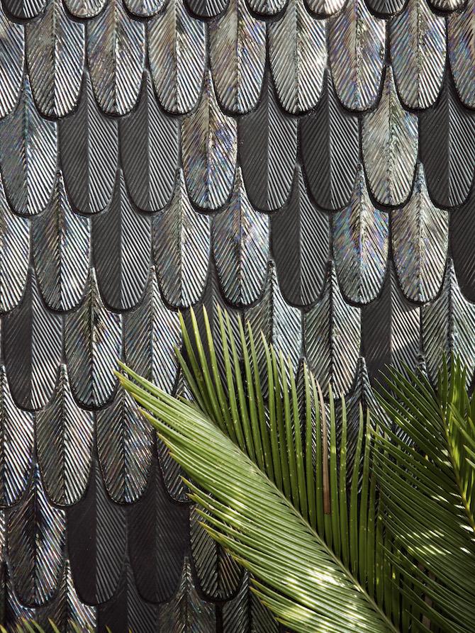 """pattern """"Plumage"""", disegnato da Cristina Celestino BOTTEGANOVE_STUDIO"""