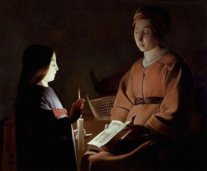 Georges de La Tour (studio) Educazione della Vergine