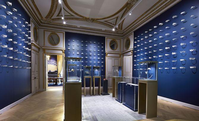 Il salone dei diademi hotel particulier Chaumet Parigi