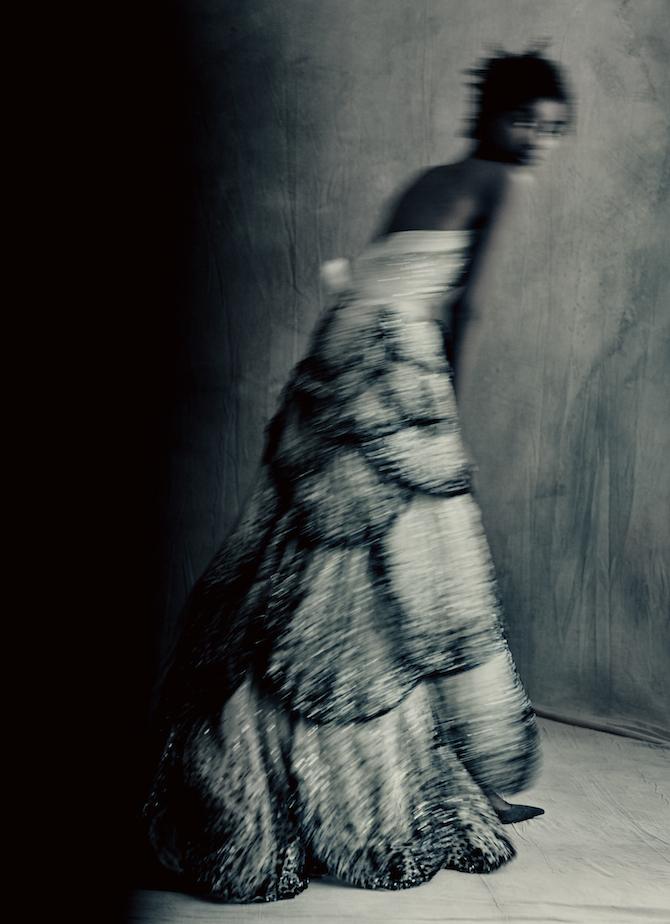JUNON DRESS_Autumn-Winter 1949 Haute Couture collection Milieu du Siècle line by Christian Dior Model: TamiWilliamsStylist: Grace CoddingtonMakeupartist: Lauren Parsons _Hairstylist: Julien d'Ys COPYRIGHT: Paolo Roversi