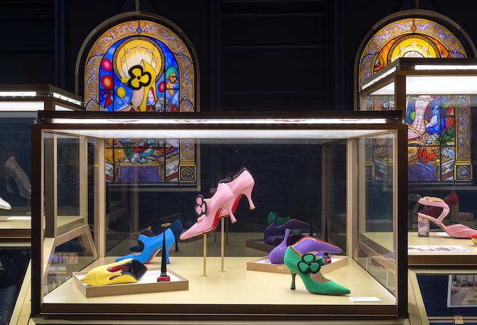 David Lynch et Christian Louboutin, Fetish, 2007, Vue de l'exposition Christian Louboutin L'Exhibition[niste], Palais de la Porte Dorée © Marc Domage