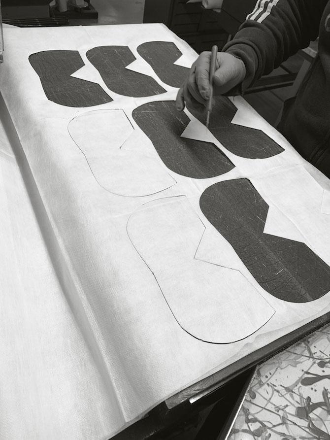 Baldinini i cui stabilimenti sono stati convertiti alla produzione di mascherine.