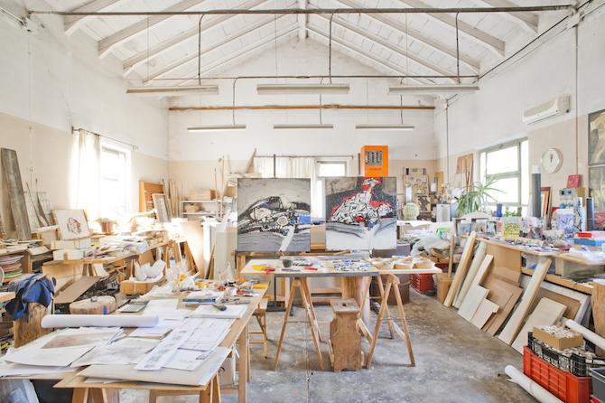 L'atelier Luciano Petris Mosaici