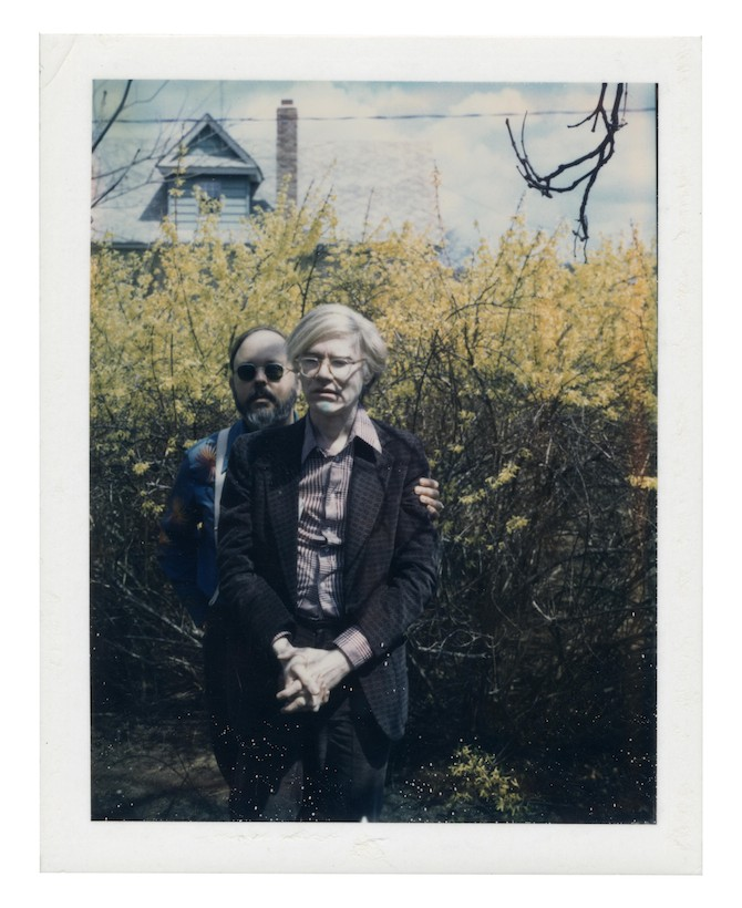 ANDY WARHOL (1928-1987) Andy Warhol and Henry Geldzahler Estimate: USD 15,000 - USD 20,000 (GBP 11,889 - GBP 15,852) unique polaroid print mounted on board 4¼ x 3⅜ in. (10.8 x 8.6 cm.) Executed circa 1979.